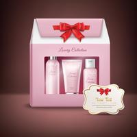 Kosmetik presentförpackning vektor