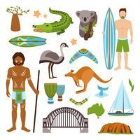 Australien ikoner set