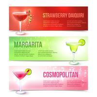 Cocktail-Banner gesetzt vektor