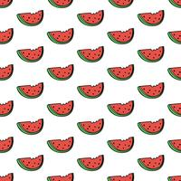 Sömlös mönster bakgrund med vattenmelon skiva vektor