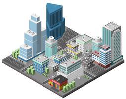 Stadt im Stadtzentrum gelegenes Konzept