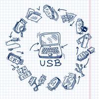 USB och dator vektor