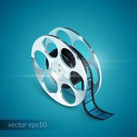 film reel realistisk vektor