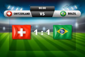Schweiz gegen Brasilien-Fußballspiel vektor