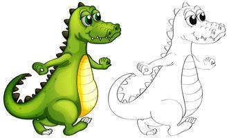 Tierumrisse für das Alligatorgehen