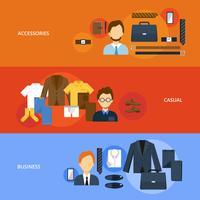 Kleidungsfahnensatz