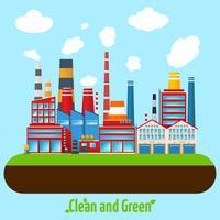 Grünes Industrieplakat