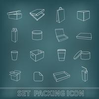 Förpackningsikoner Set