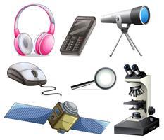 En uppsättning teknikutrustningar vektor