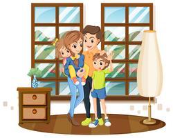 Familienmitglieder im Haus