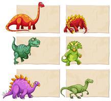 Leere Vorlage mit Dinosauriern vektor