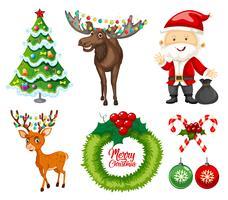 En uppsättning julelement