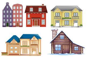 Set aus verschiedenen Gebäude