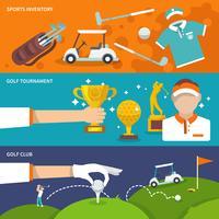Golf-Banner gesetzt vektor