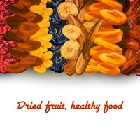Torkad frukt bakgrundsutskrift