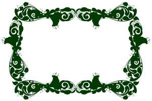 Gränsmall med grönt mönster vektor