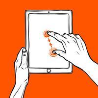 Hand halten Tablette