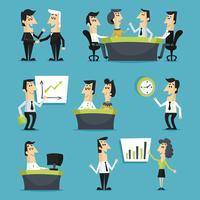 Kontorsarbetare platt vektor