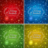 Vorlage mit vier Karten für Weihnachten vektor
