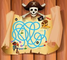 En piratmaz spelmall vektor