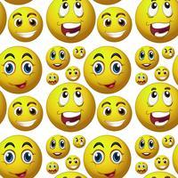 Nahtloses glückliches Gesicht vektor