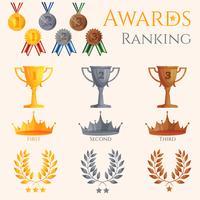 Ranking ikoner som anges