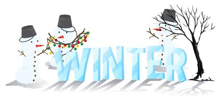Font design för ord vinter