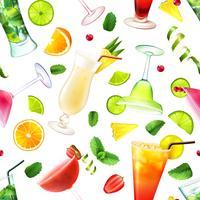 Cocktail sömlöst mönster
