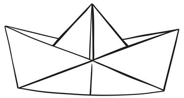 Papierhut auf weißem Hintergrund vektor