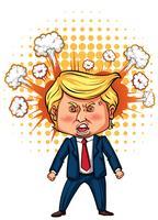 Charakterskizze des amerikanischen Präsidenten Trump vektor