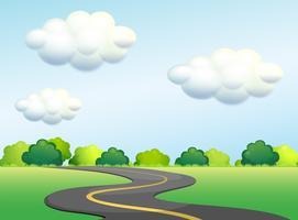 Eine natürliche Straße zum Wald vektor