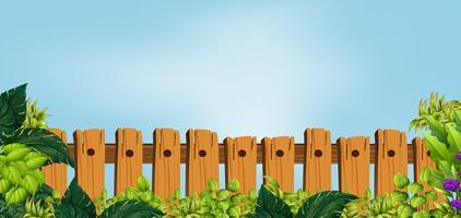 Holzzaun im Garten vektor