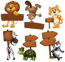 Djur med skyltar