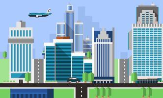 Wolkenkratzer Büros Hintergrund vektor