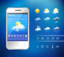 Mobile Wetteranwendung vektor