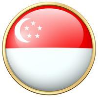 Ikonendesign für Flagge von Singapur