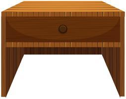 Holzschublade im klassischen Design vektor