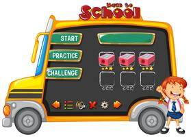 Schulbus-Spielvorlage vektor