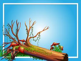 Grenzschablone mit Protokoll und Pilz