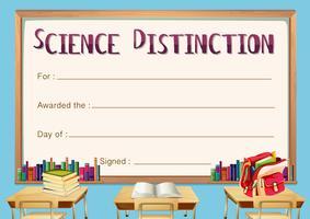 Certifikatmall för vetenskaplig skillnad vektor