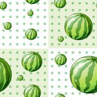 Nahtloses Hintergrunddesign mit Wassermelonen vektor