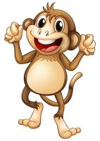 Glücklicher Affe, der alleine tanzt