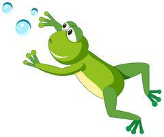 Ein Froschcharakter auf weißem Hintergrund vektor
