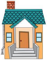 Ein flach isoliertes Haus vektor