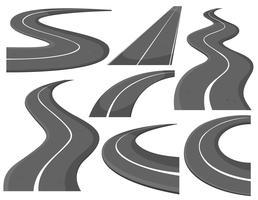 Unterschiedliches Design von Straßen vektor