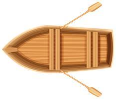 En toppvy av en båt vektor