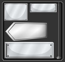 Olika design av metallplattor