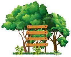 Träskylt i trädgården