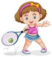 Eine Tennisspielerin vektor