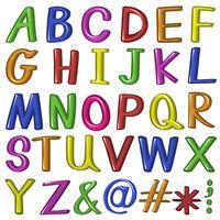 Candy fontstyle av bokstäverna vektor